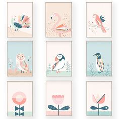 New to our collection are these wonderful designs by Tati Abaurre. Available as prints and wall banners. Check them out. Wall Banner, Pop Design, Kids Prints, Art Wall Kids, Flower Prints, Gallery Wall, Nursery, Birds, Frame