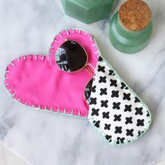 Give your sunglasses a stylish new home with this heart shaped DIY case.