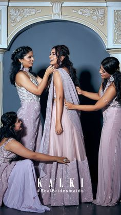 #Episode5 #RealBridesmaidsofKalki Are you not blessed with the best girlfriends in the world? Well, one of our #KALKIBrides has been fixed, and we planned on this one big 'Bride & Bestie' photoshoot for her and her #squad before she bids goodbye to singlehood.Also we got you a list of all sorts of 'must-have' picture ideas - from the cheesy ones to the most boujee ones. Sister Photography, Engagement Photography, Photography Poses, Wedding Photography, Indian Dresses, Indian Outfits, Bridesmaids, Bridesmaid Dresses, Wedding Dresses