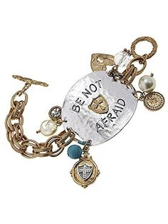 Be NOT Afraid, Worn Gold/antique Silver Large Charm Bracelet, Crystal Accent Letter Engraved Pearl Accent Be Not Afraid, Worn Gold/antique Silver Large Charm Bracelet,materials Metal Length 7.5 Inch Unknown http://www.amazon.com/dp/B00L2MBFBS/ref=cm_sw_r_pi_dp_zyMLvb0Y26YDA
