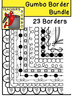 Gumbo Borders Bundle from Teacher's Gumbo on TeachersNotebook.com -  (23 pages)  - Page borders for worksheets