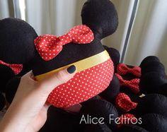 Peso de porta Minnie e Mickey