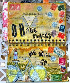 great use of personal photography in art journaling by the lovely Kristin at Twinkle, Twinkle