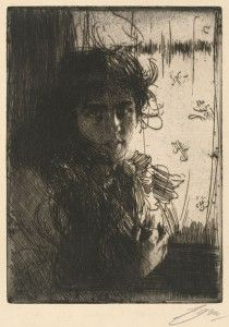 Anders Zorn An Irish Girl Zorn, Anders - Swedish - Item type:Portrait Etching, Hjert & Hjert Edition of Signed in pencil. 11 x 8 Life Drawing, Painting & Drawing, Smart Museum Of Art, Chiaroscuro, Figurative Art, Printmaking, Art Drawings, Illustration Art, Sketches