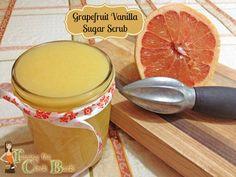 Grapefruit Vanilla Sugar Scrub  #sugarscrub #DIYpersonalcare