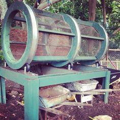 Great compost sifter, seen @greenrowsfarm on Instagram