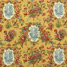 Waverly Saison De Printemps Saffron Fabric.