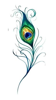 Small-Peacock-Feather-Tattoos.jpg (500×893)