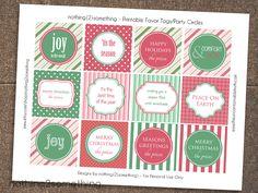 Printable ChristmasGift/Favor Tags-Seasonal/Holiday Tags. $5.00, via Etsy.