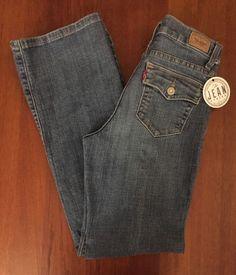 Levi's Womens Sz 4M 512 (26x30) Perflectly Slimming Flap Pocket Bootcut Jeans 3A…