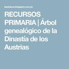 RECURSOS PRIMARIA | Árbol genealógico de la Dinastía de los Austrias