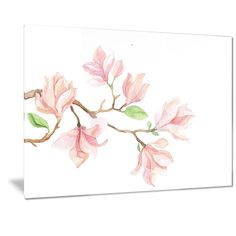 Designart 'Mongolia Flower Painting' Watercolor Floral Art
