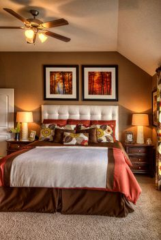 Of Fall Home Decor On Pinterest Bedrooms Fall And Orange Walls