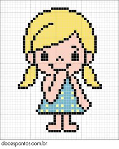 Girl hama perler beads pattern