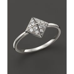 Kc Designs Diamond Pyramid Ring in 14K White Gold, .15 ct. t.w. ($560) ❤ liked on Polyvore featuring jewelry, rings, white gold, white gold rings, 14k diamond ring, 18 karat gold ring, pandora jewelry and diamond rings