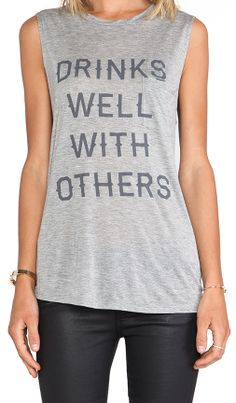 I think everyone should wear a shirt like this. Either you do or you don't drink well with others. Lol. I drink well with others (: