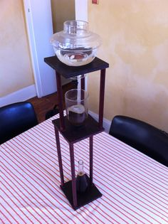 DIY cold drip Cold Brew Coffee Maker, Drip Coffee, Cold Drip, Water Drip, Brewing, Dutch, Simple, Projects, Diy