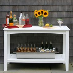 I want an outdoor buffet table for my deck!