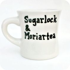 Sherlock Holmes Funny Tea Mug coffee tea cup diner mug black white Moriarty mystery literature