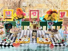 Alice in Wonderland Birthday Party – With My Little Ones Cast The First Stone, Birthday Party Themes, Birthday Cake, Alice In Wonderland Birthday, Goodie Bags, Little Ones, Cupcake Cakes, Something To Do, Eat