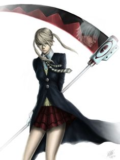 Maka Albarn and Soul Eater Evans by Penator.deviantart.com on @deviantART