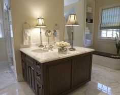 Traditional Bathroom Carrera Marble Bathroom Design, Pictures, Remodel, Decor and Ideas - page 2