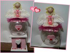 Chiclera, con angelita en pasta flexible www.facebook.com/CreArtebyJess