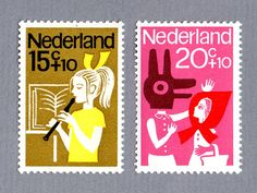 Stamps from the Netherlands.