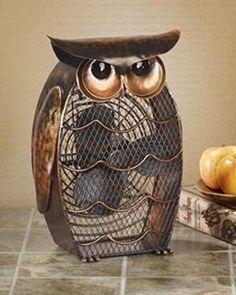 Decobreeze Owl Figurine Fan Two Speed Electric Circulating Fan Fan Decoration Metal Fan Owl