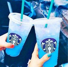 Wallpaper, Feeds & Lockscreen - ──ꪶཷ୭ blue feeds💙 - Wattpad Starbucks Blue Drink, Copo Starbucks, Starbucks Hacks, Bebidas Do Starbucks, Starbucks Secret Menu Drinks, Starbucks Gift Card, Starbucks Coffee, Vegan Starbucks, Starbucks Snapchat