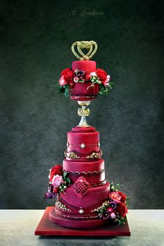 Wedding Cake Bie & Pg Wedding Cake Bie & Pg This is a cake I made for a couple, that is very dear to me. #valentine #valentines-day #heart #cakecentral