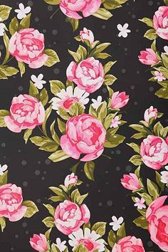 Black and pink roses wallpaper  http://www.urbanoutfitters.com/urban/catalog/productdetail.jsp?id=33731712