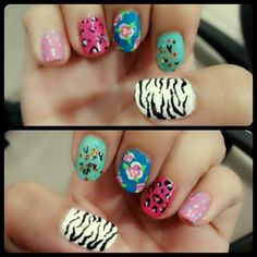 When you get bored, you can make your nails more pretty.