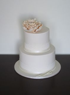 Lace ribbon with a beautiful flower on top