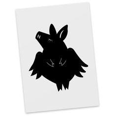 Postkarte Schweinchen Flieger aus Karton 300 Gramm  weiß - Das Original von Mr. & Mrs. Panda.  Diese wunderschöne Postkarte aus edlem und hochwertigem 300 Gramm Papier wurde matt glänzend bedruckt und wirkt dadurch sehr edel. Natürlich ist sie auch als Geschenkkarte oder Einladungskarte problemlos zu verwenden. Jede unserer Postkarten wird von uns per hand entworfen, gefertigt, verpackt und verschickt.    Über unser Motiv Schweinchen Flieger  Ihr braucht Glück oder sucht einen Glücksbringer…