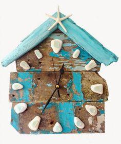 Ρολόγια τοίχου από παλέτες και θαλασσόξυλα
