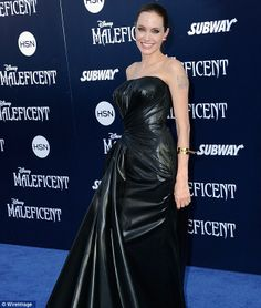 Top movie: Angelina Jolie, shown last week at the premiere of her new movie Maleficent in ...