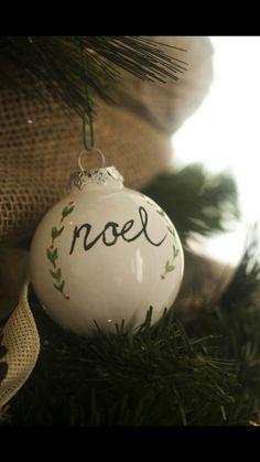 Handmade Ceramic Ornament Noel Outer Banks Vacation, Handmade Ceramic, Christmas Bulbs, Ornament, Christmas Light Bulbs, Handmade Pottery, Decorating, Ornaments, Dekoration