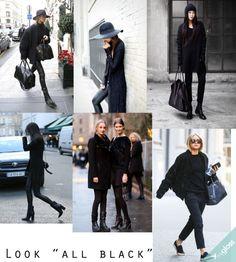 O look all black aparece volta com tudo para o Inverno/2014.  APoste!