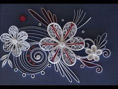 Quilling Made Easy # How to make Beautiful Flower using white Paper-Pape...