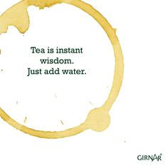 Because chai gives you wisdom.