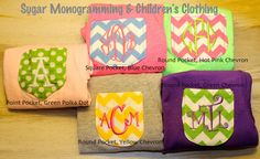 Girl or Toddler Monogrammed Pocket Tee by SugarMonogramming, $18.00 #sugarmonogram