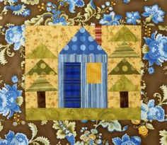 """Free Tutorial & Pattern - House and Trees Wall Hanging   AllPeopleQuilt.com - Inspired by """"All Snowed In"""" from designer Renée Plains of Liberty Star."""