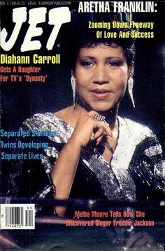Aretha Franklin covers Jet Magazine (1985)