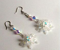FREE pattern for earrings Snowflakes | Beads Magic