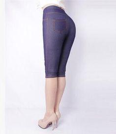 Women Imitation Jeans Legging Jeans Women Plus Faux Jeans Leather Calf-Length Cotton XL,XXXL 5XL Women Jeans Pants