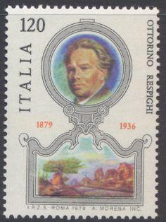ITALY 1946 - 2012 MUSIC OTTORINO RESPIGHI COMPOSER 1979 MNH Stamp