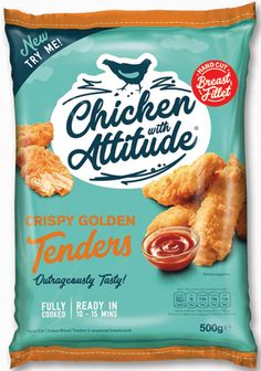 Quality Dinner option in a hurry…Chicken with Attitude® Fully cooked - ready in 15 minutes! Snack Recipes, Snacks, Dinner Options, Frozen Chicken, Crisp, Attitude, Spicy, Tasty, Cooking