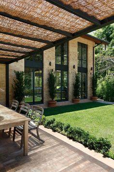 Backyard Pergola Ideas Patio Design Bricks 45 Ideas For 2019 Future House, Design Exterior, Interior And Exterior, Modern Exterior, Outdoor Rooms, Outdoor Living, Outdoor Decor, Beautiful Homes, Beautiful Interiors