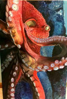 """""""Octopus"""" Oil Paint 24x36"""